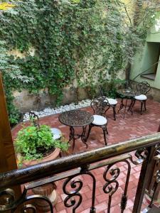 Een patio of ander buitengedeelte van Hotel Villa Franca