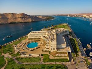 A bird's-eye view of Mövenpick Resort Aswan