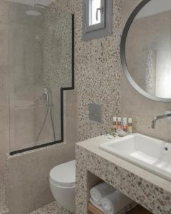 Salle de bains dans l'établissement Mykonos Essence Hotel