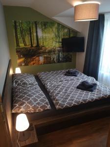 Posteľ alebo postele v izbe v ubytovaní Apartmán Tobias, Vysoké Tatry