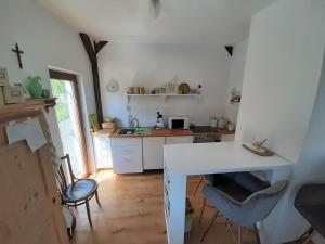 Küche/Küchenzeile in der Unterkunft s'Paradies