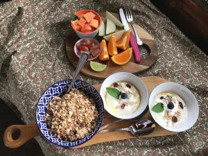 Comida en el complejo de cabañas o alrededores
