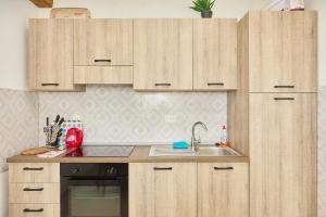 A kitchen or kitchenette at Santa Barbara Mljet apartment