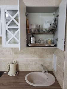 Ванная комната в Апартаменты на виноградной 4