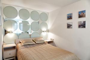 Кровать или кровати в номере Отель Волга
