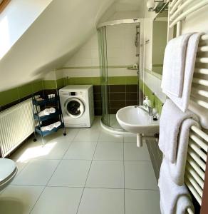 Koupelna v ubytování Hotel Freud