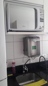 A bathroom at Apt 2qts 01 suíte BeiraMar PontaVerde Edf Neo 2 1