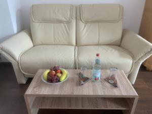 Ein Sitzbereich in der Unterkunft Gasthof Löwen