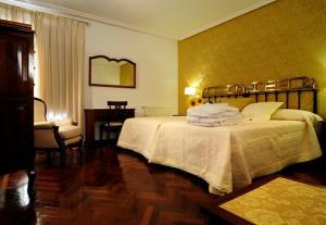 Cama o camas de una habitación en Hotel II Virrey