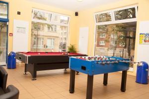 A billiards table at a&o Aachen Hauptbahnhof