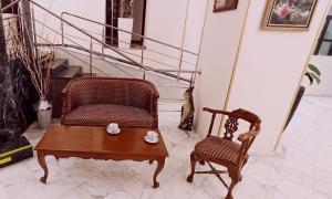 Гостиная зона в Гостиница Оксана