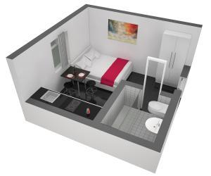 Grundriss der Unterkunft HITrental Station Apartments