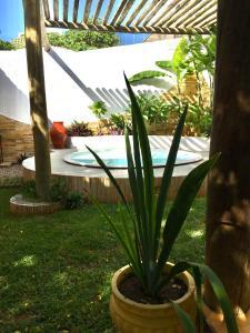 The swimming pool at or close to Caminho da Praia Flats
