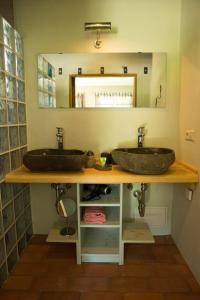Ein Badezimmer in der Unterkunft Bio-Hotel Kolonieschänke