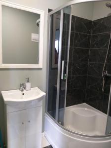 A bathroom at Atpūtas vieta Ežezers