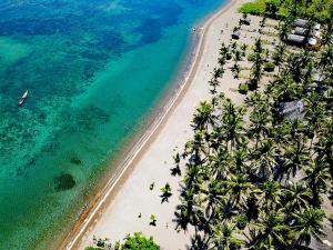 Blick auf Coconut Garden Beach Resort aus der Vogelperspektive