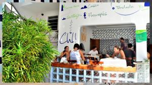 O saguão ou recepção de Che Lagarto Hostel Porto de Galinhas