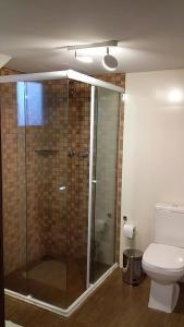 Um banheiro em Pousada Cantinho da Serra
