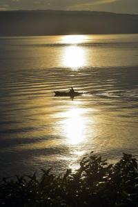 Вид на восход или закат из отеля типа «постель и завтрак» или места поблизости