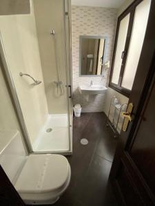 A bathroom at Hotel Los Molinos