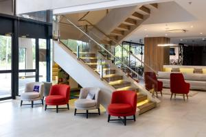 The lobby or reception area at Blue Tree Towers Millenium Porto Alegre