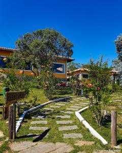 A garden outside Pousada Eldorado Das Gerais