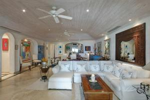 A seating area at Old Trees 002 by Barbados Sotheby's International Realty