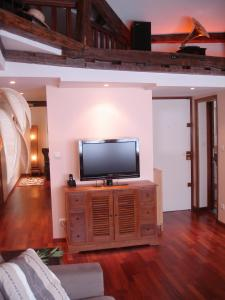 A television and/or entertainment center at Loft Saint-Michel