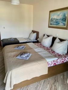 Ein Bett oder Betten in einem Zimmer der Unterkunft Pachmann Apartments