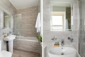 A bathroom at Torland Seafront Hotel - all rooms en-suite, free parking, wifi