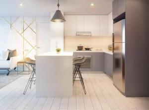 A kitchen or kitchenette at Loft in Barranco Best Location All Amenities