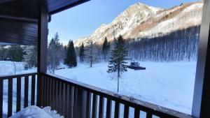 La terrazza sulle piste - Val di Luce durante l'inverno