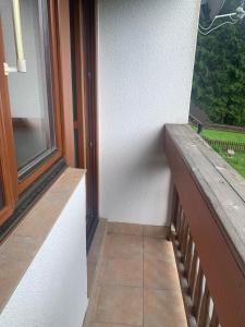 A balcony or terrace at B&B Zlatá stezka