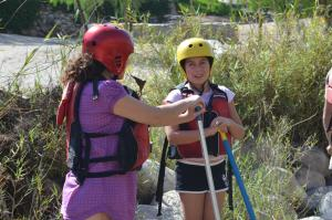 Children staying at Rio Lindo Ecolodge