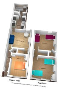 The floor plan of A favourite for Alton Towers, Venture House!