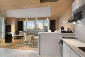 A kitchen or kitchenette at Wyndham Grand Istanbul Levent