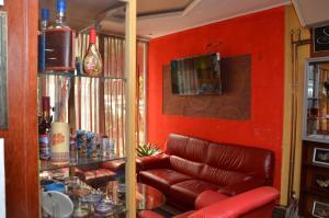Een zitgedeelte bij Hotel Diplomat Plus