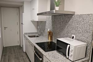 Una cocina o zona de cocina en Apartamentos Credencial