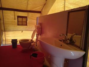 A bathroom at Wonderland Camp