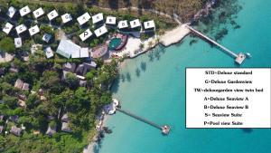 Blick auf To The Sea The Resort Koh Kood aus der Vogelperspektive
