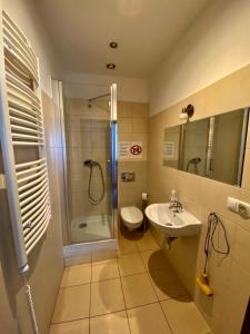 Kúpeľňa v ubytovaní Ametyst Hostel