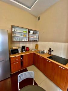 Kuchyňa alebo kuchynka v ubytovaní Ametyst Hostel
