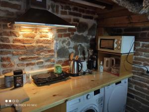 A kitchen or kitchenette at Guest House Antika