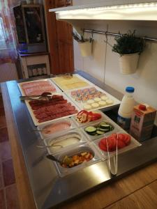 A kitchen or kitchenette at Karpatia Panzio