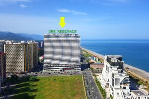 ORBI Residence and Plaza first line from the sea с высоты птичьего полета