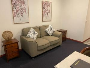 A seating area at The Esplanade Motel