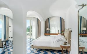 Letto o letti in una camera di Borgo Santandrea