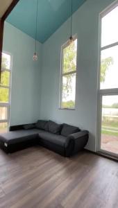 Ein Sitzbereich in der Unterkunft Ferienpark Tannenbruchsee