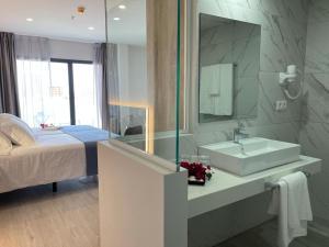 Een badkamer bij Hotel Valle Orotava