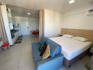 A bed or beds in a room at Edificio Time - Apto 1504